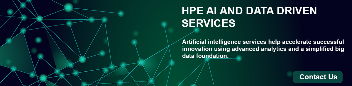 HPE AI and Data Driven Services Banner