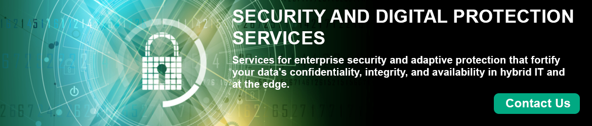 HPE Security and Digital Protection Services Banner